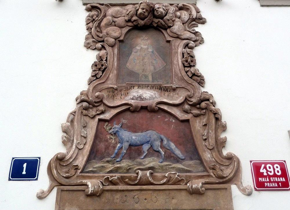 Prague, façade 498 Mala Strana