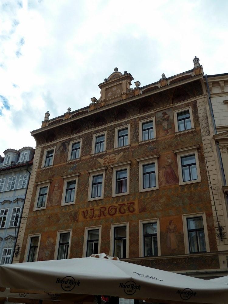 Façade Prague maison Rott