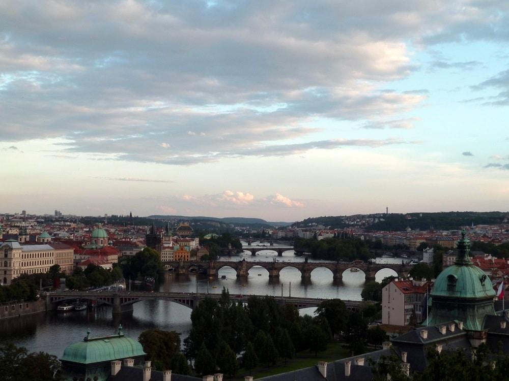 Ponts de Prague sur la Vltava